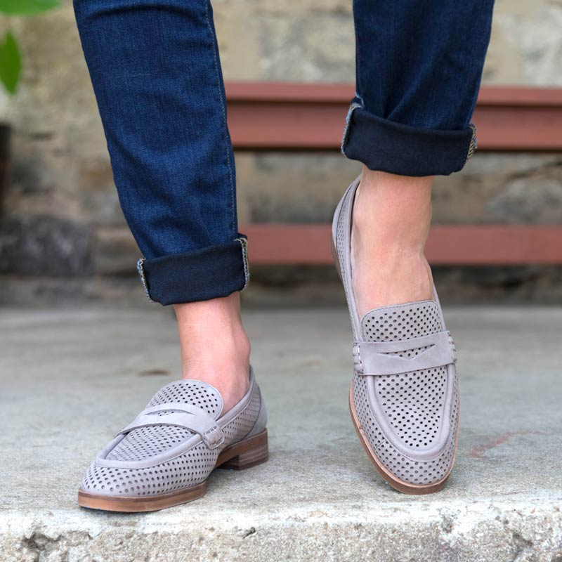 tanger outlets saks off fifth grey loafers