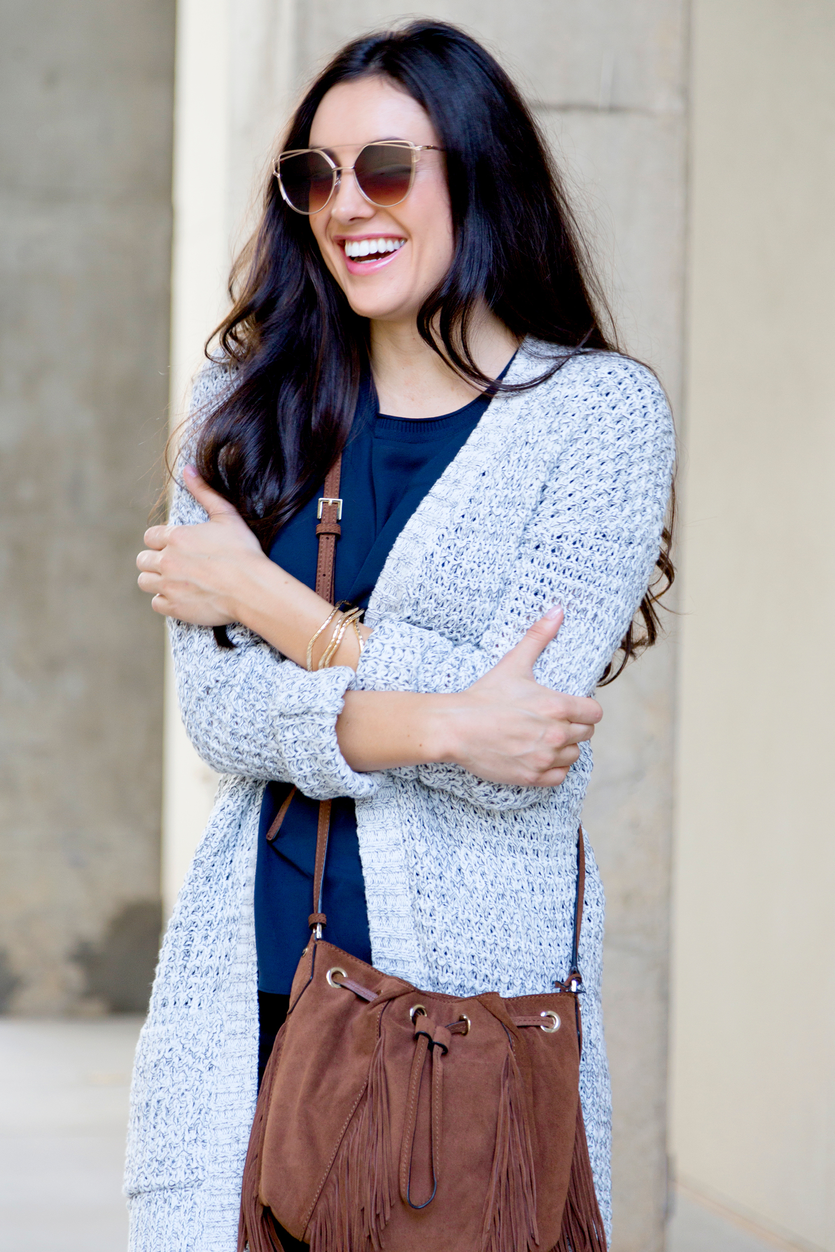 tanger outlets express oversized knit cardigan