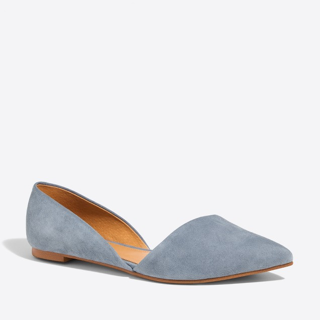 tanger outlets j crew simple suede flats
