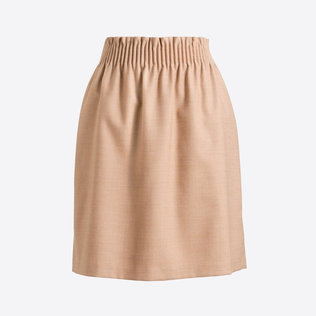 tanger outlets j crew simple tan wool skirt