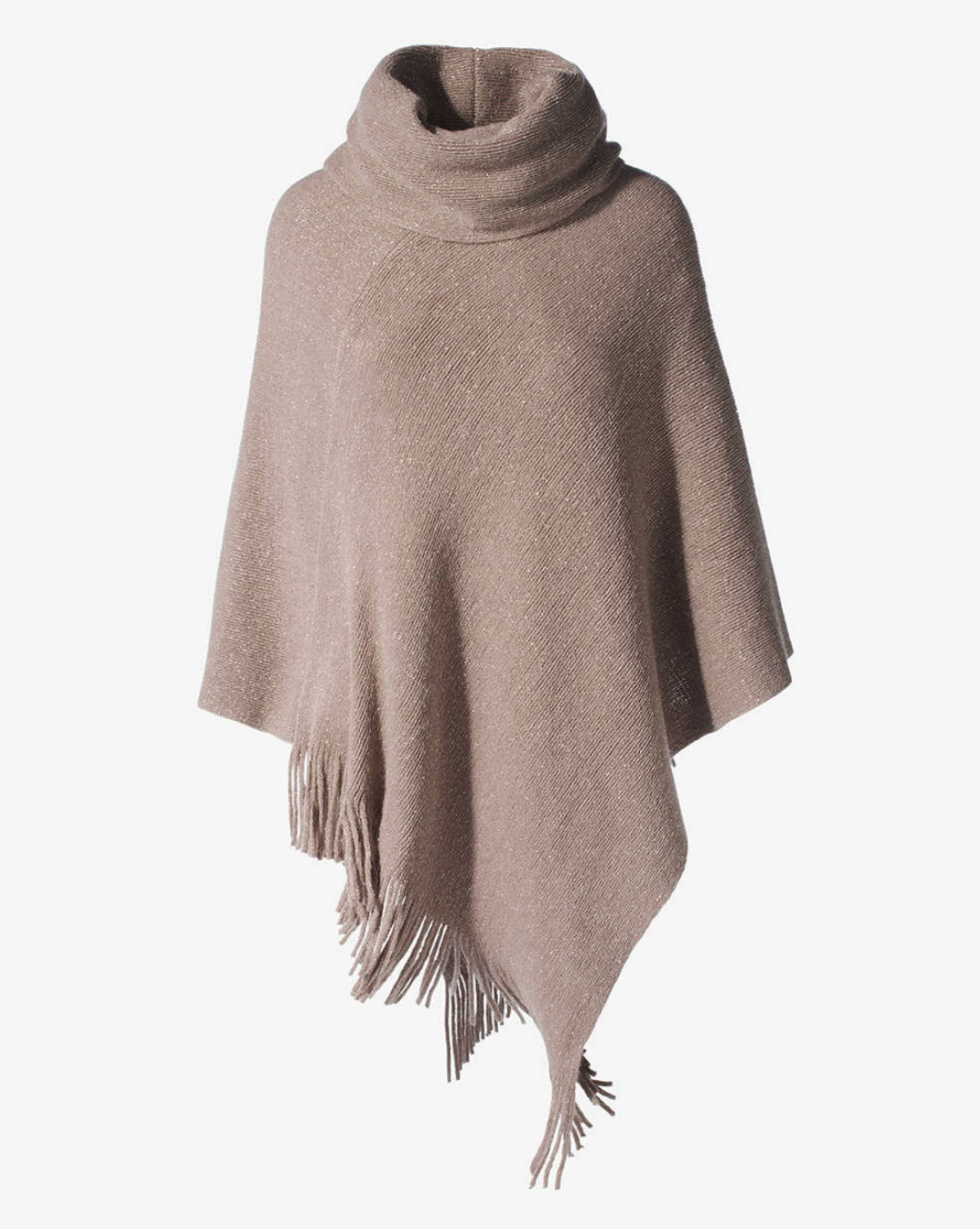 tanger outlets chico's triangle cut beige poncho