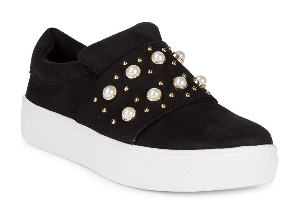 tanger outlets saks off fifth black studded sneakers