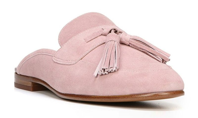 tanger outlets saks off fifth blush suede tassel mules