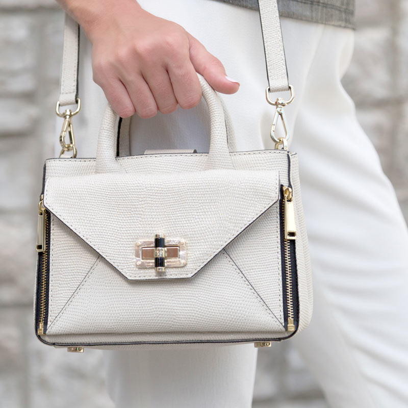 tanger outlets saks off fifth cream crossbody purse