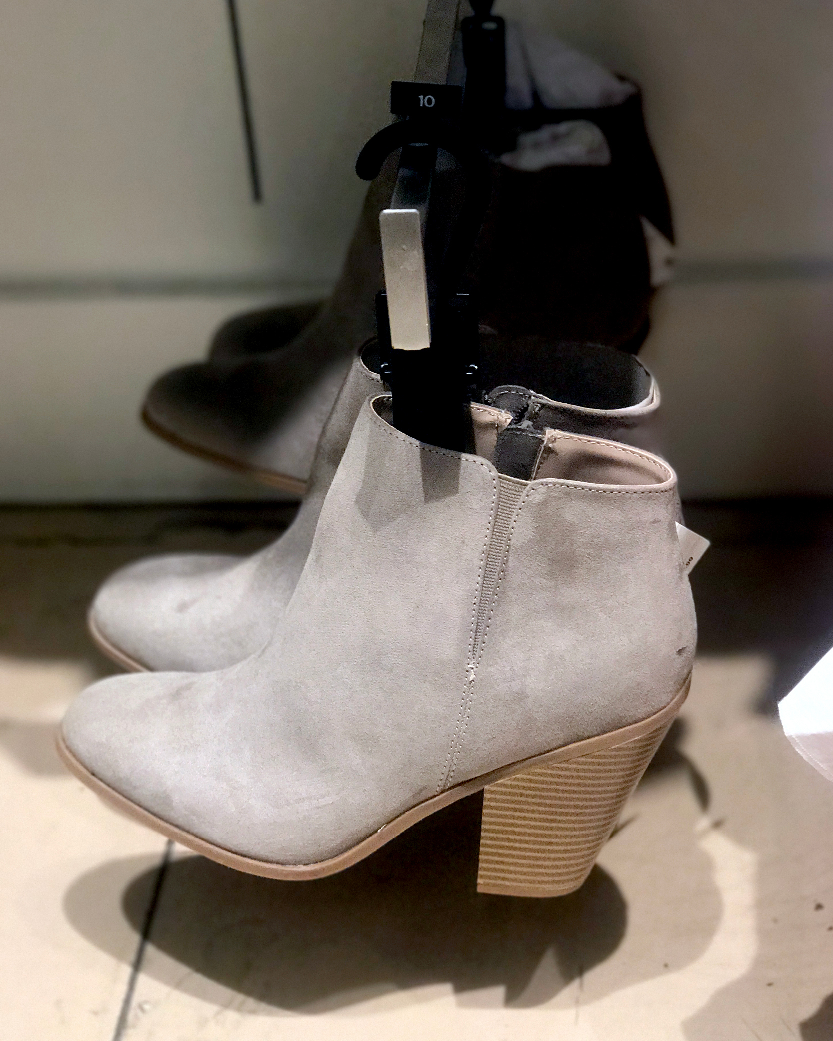 tanger outlets banana republic suede booties