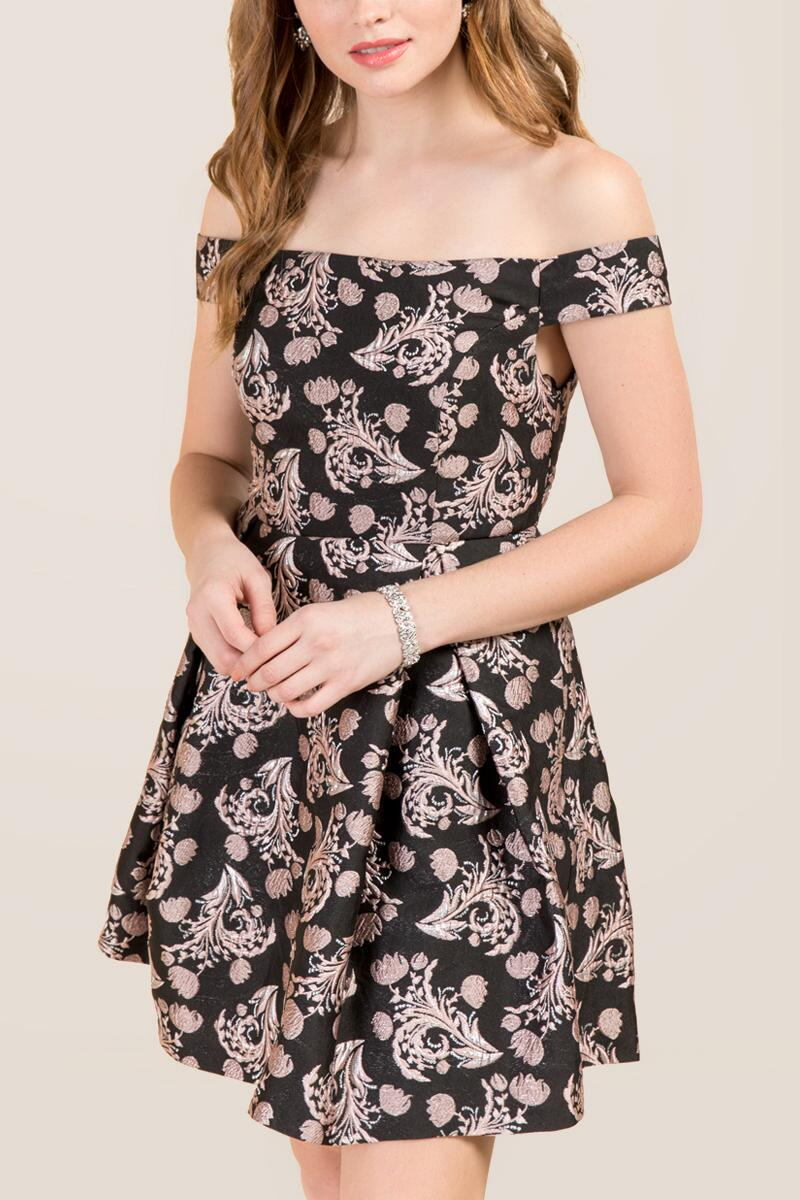 tanger outlets francesca's metallic dress