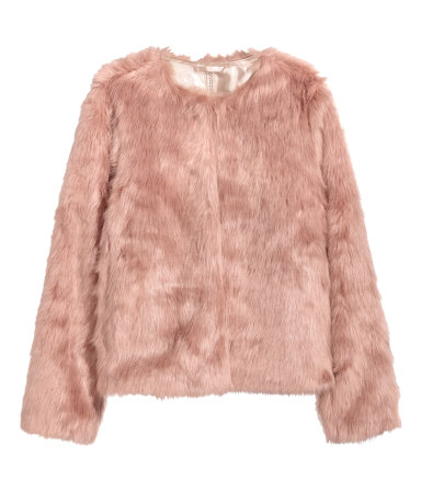 tanger outlets h&m faux fur jacket