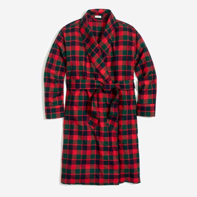 tanger outlets j crew plaid robe