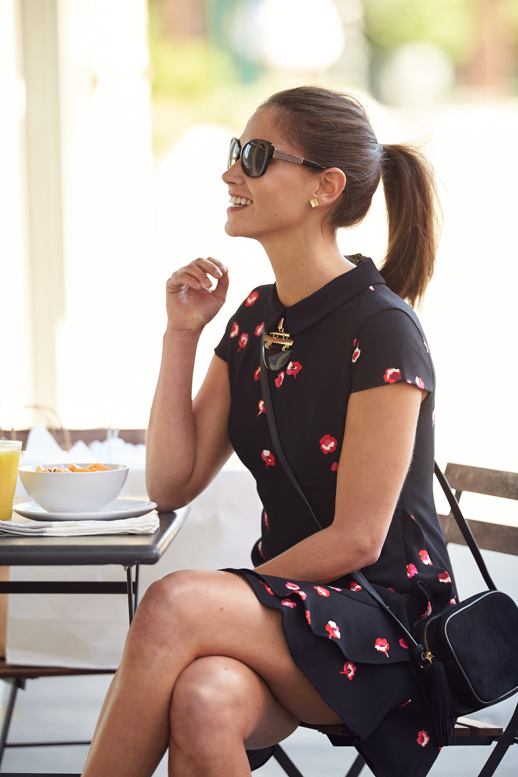 Tanger Outlets_Black Floral Dress