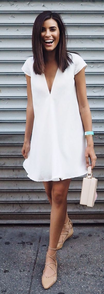 Tanger Outlets_White Dress