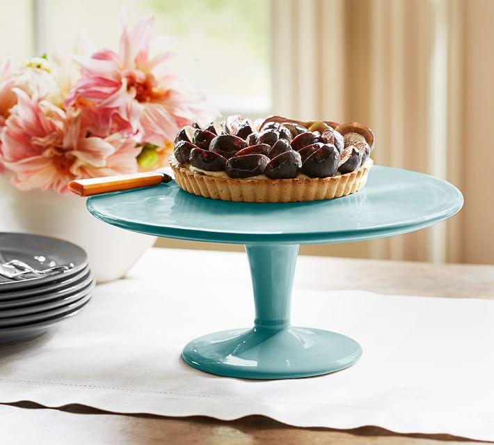Tanger Outlets_Blue Cake Platter