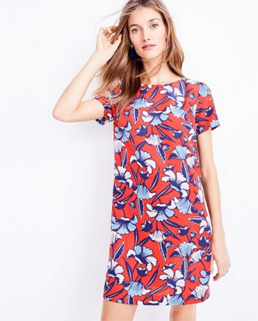 Tanger Outlets J.Crew Factory floral Shift Dress