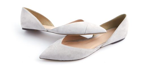 Tanger Outlets suede gray flats