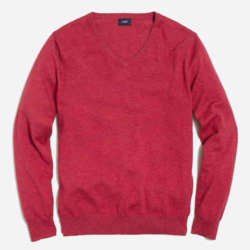 Tanger Outlets J.Crew red sweater