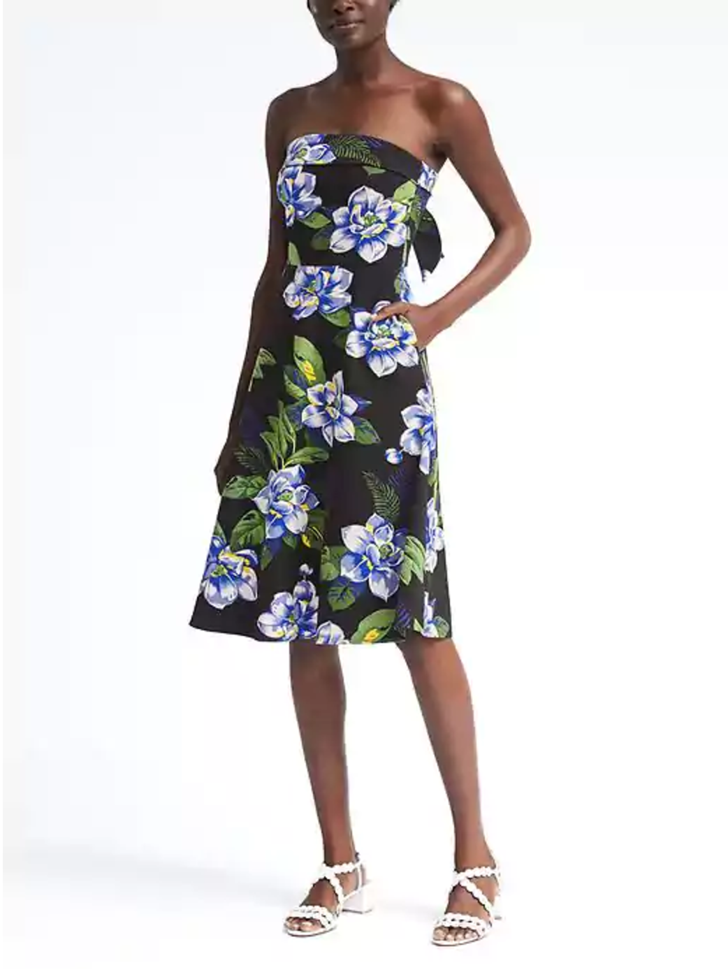 Tanger Outlets Banana Republic Factory Store strapless floral dress