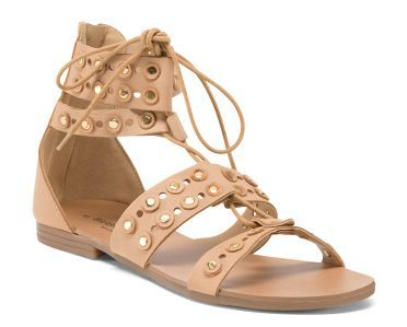 Tanger Outlets T.J. Maxx leather sandals