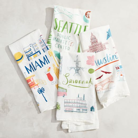 Tanger Outlets West Elm Outlet city tea towels