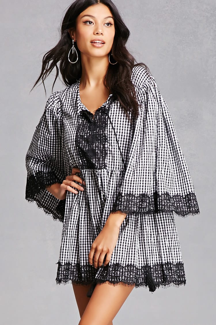Tanger Outlets Forever 21 gingham tunic
