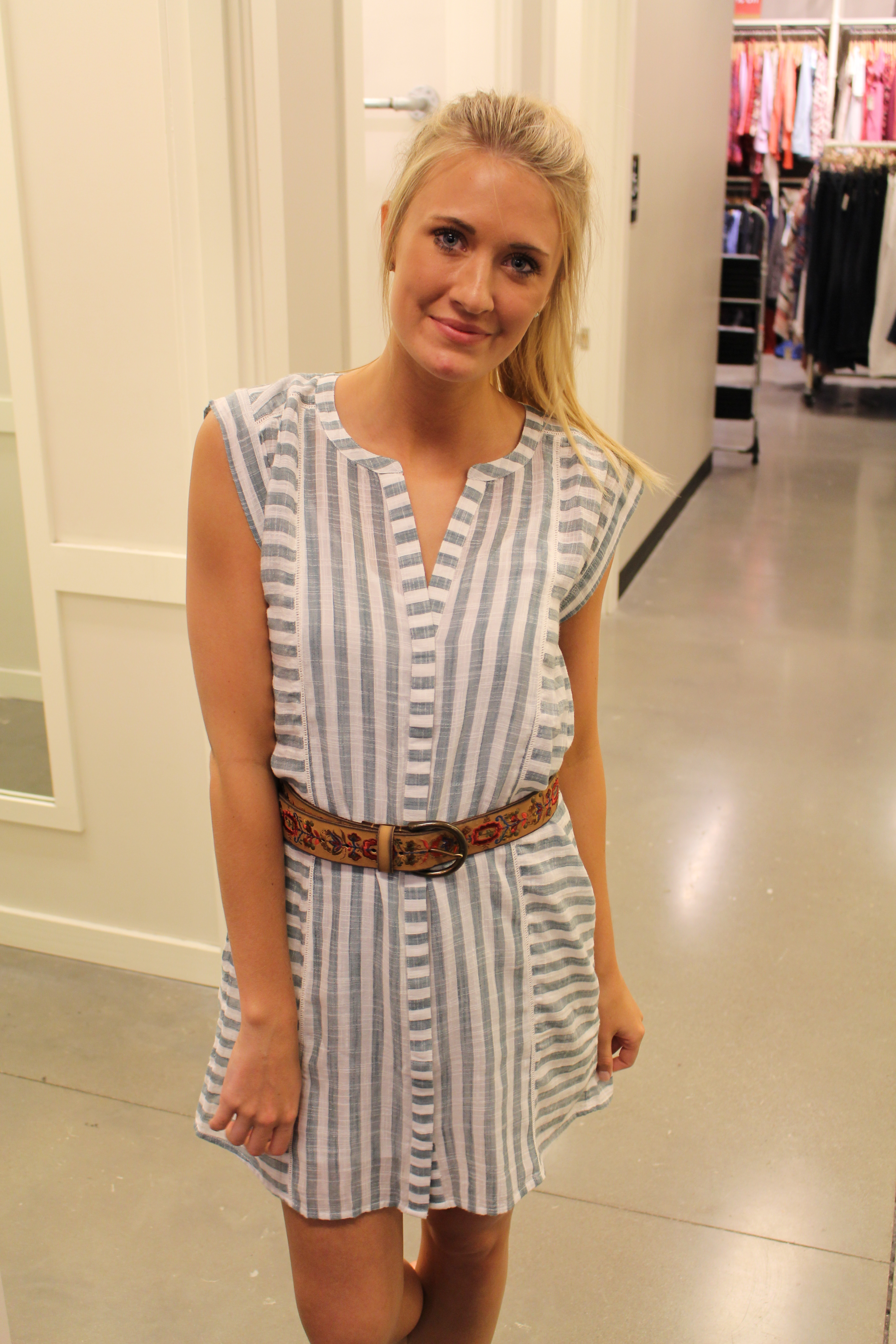 Tanger Outlets striped dress