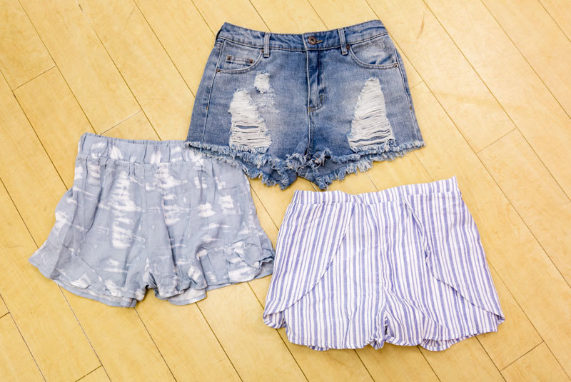 Tanger Outlets Charlotte Russe Outlet july 4th shorts