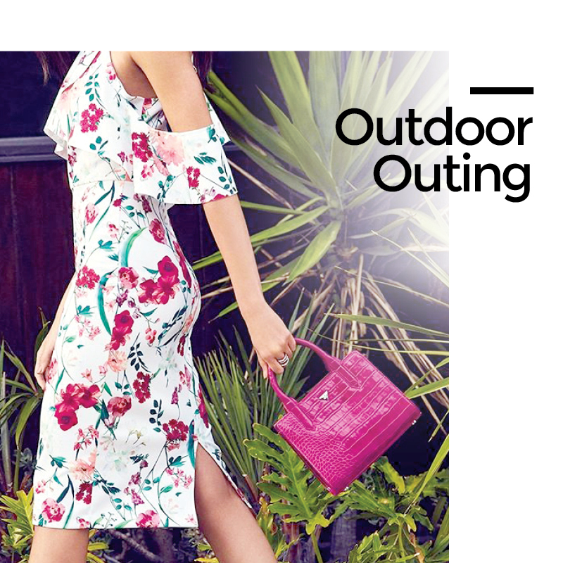 Tanger Outlets Saks OFF 5th Floral Midi Dress
