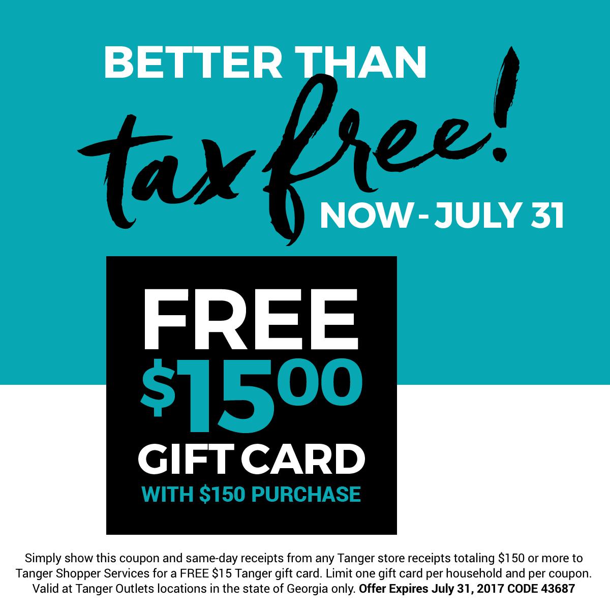 TangerLife | Tax Free Weekend Cheat Sheet