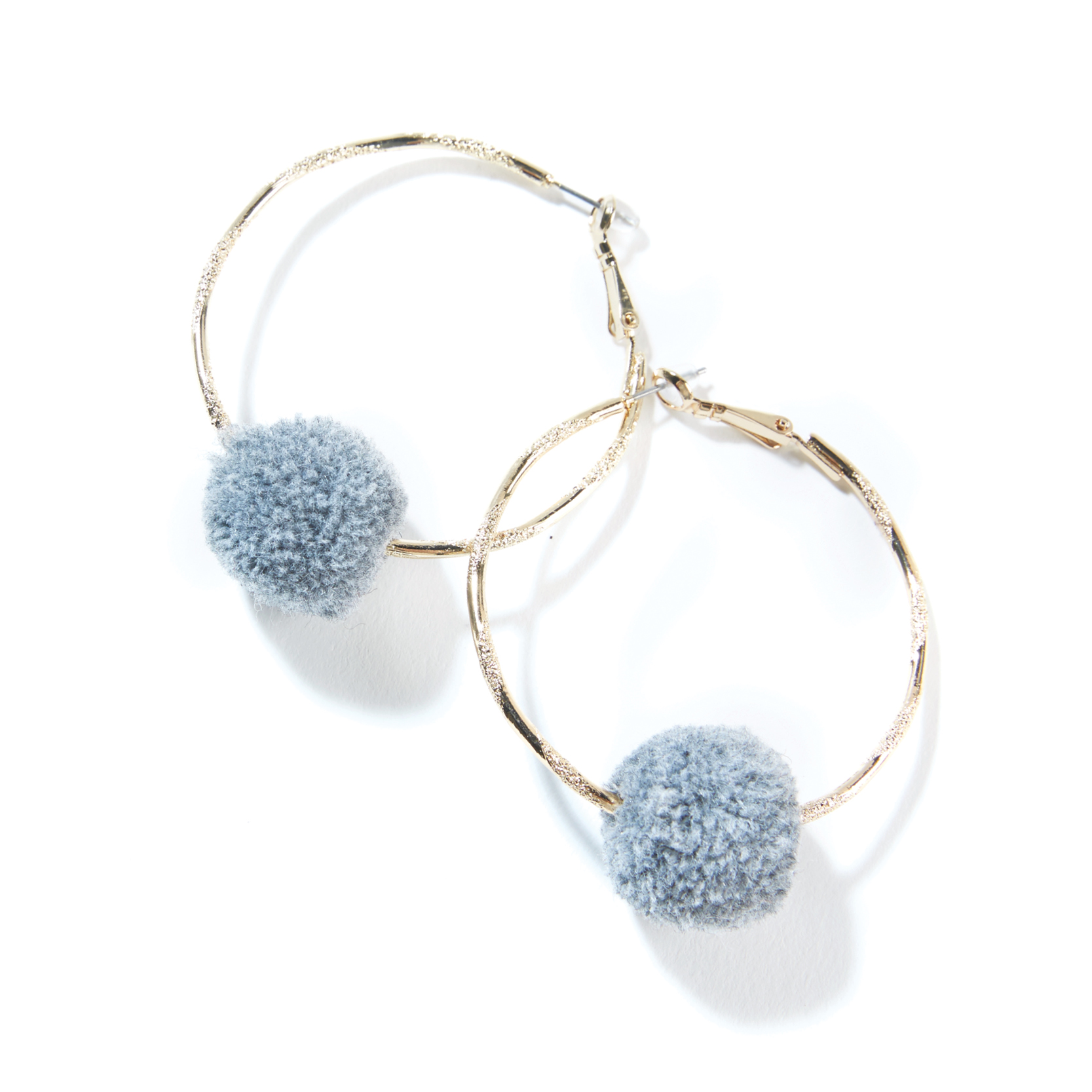 Tanger Outlets Saks OFF 5th thin gold pom pom hoops