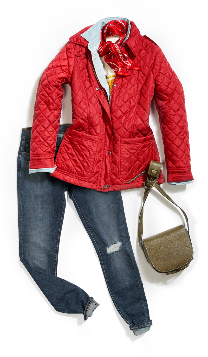 Tanger Outlets puffer coat trend