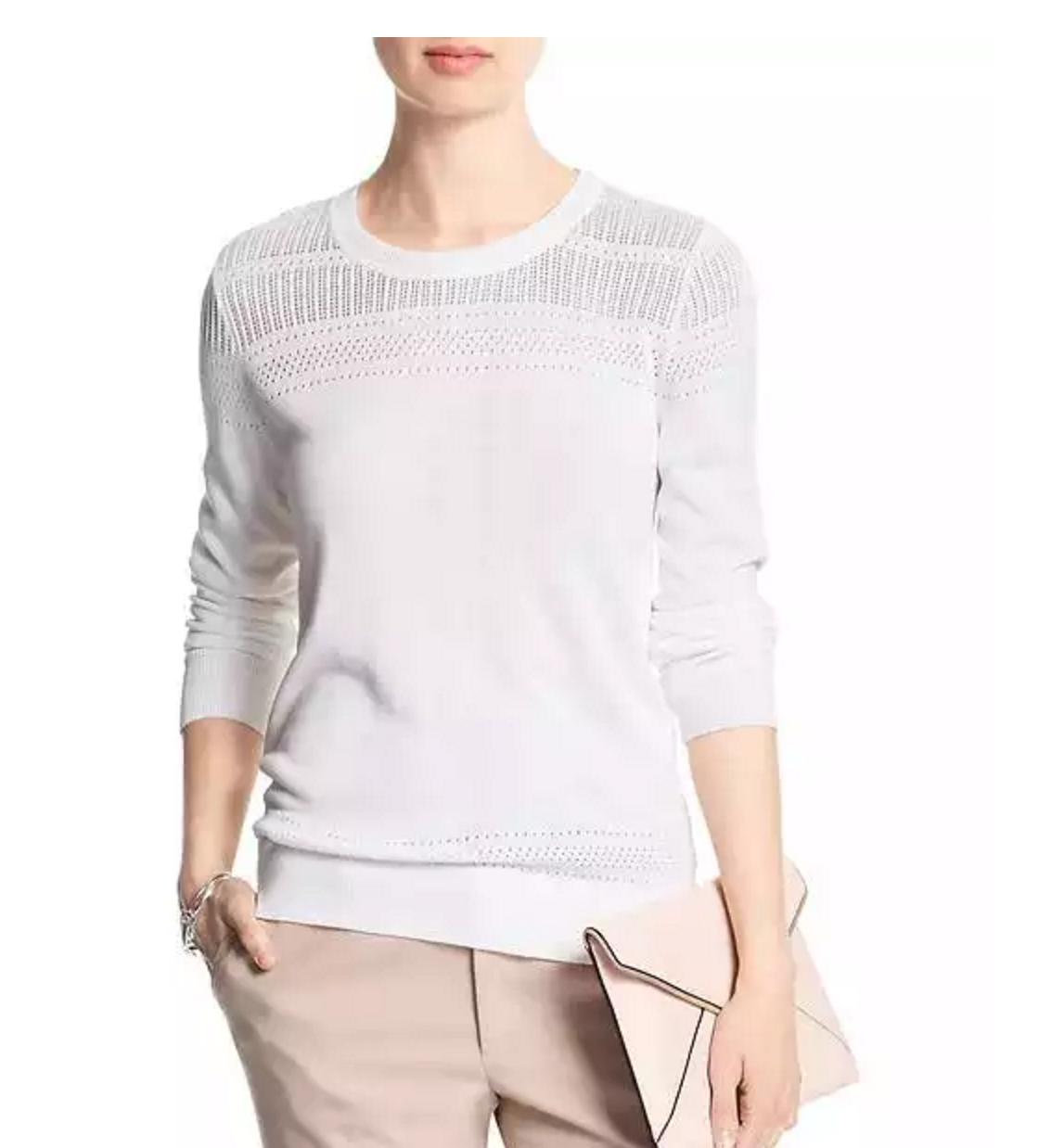 Tanger Outlets Banana Republic Factory Store white sweater