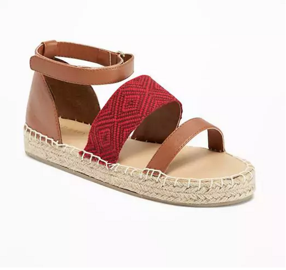 Tanger Outlets Old Navy Outlet girl's platform espadrille