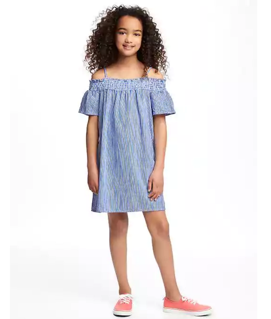 Tanger Outlets Old Navy Outlet girl's striped off the shoulder dress