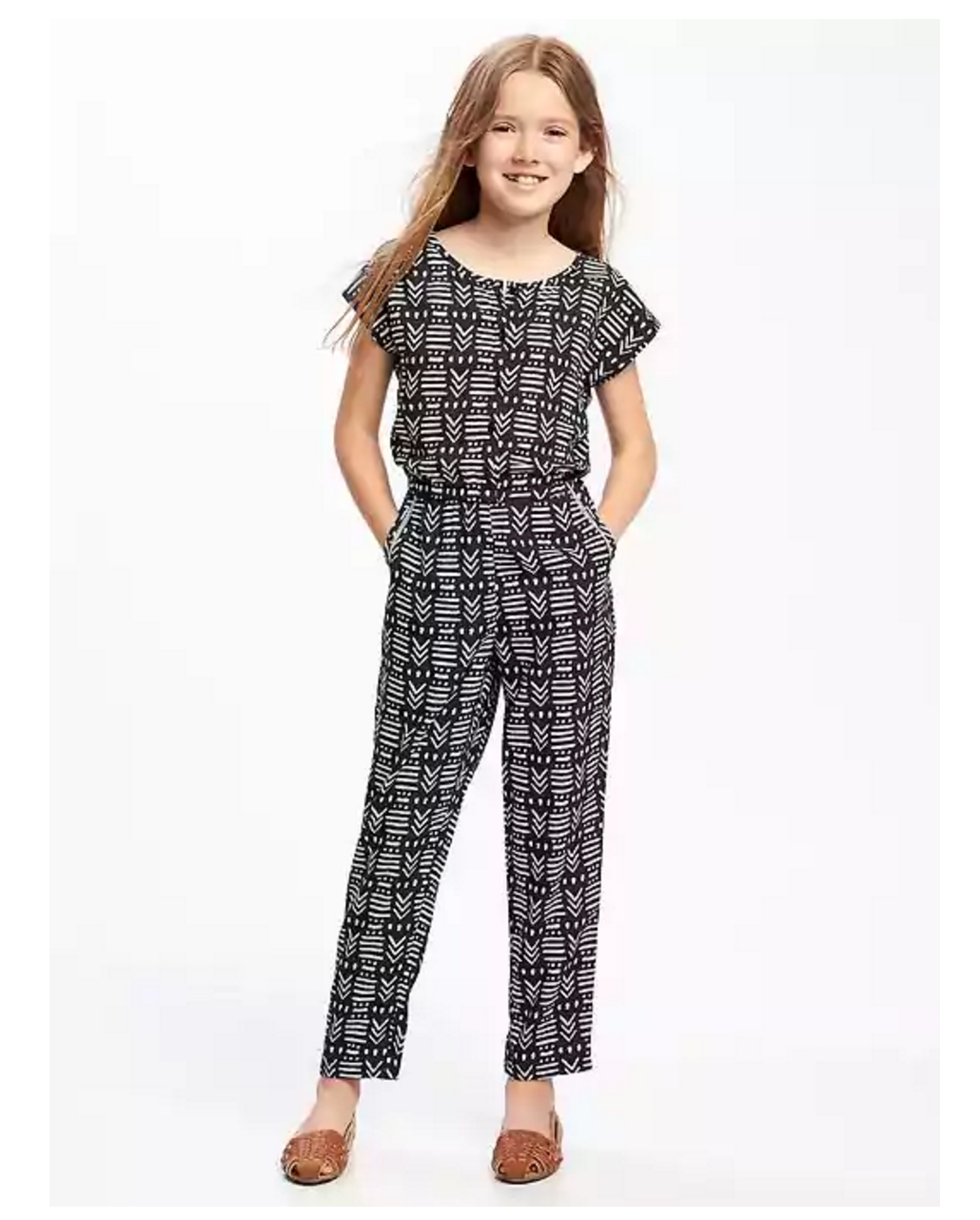 Tanger Outlets Old Navy Outlet girl's patterned jumpsuit