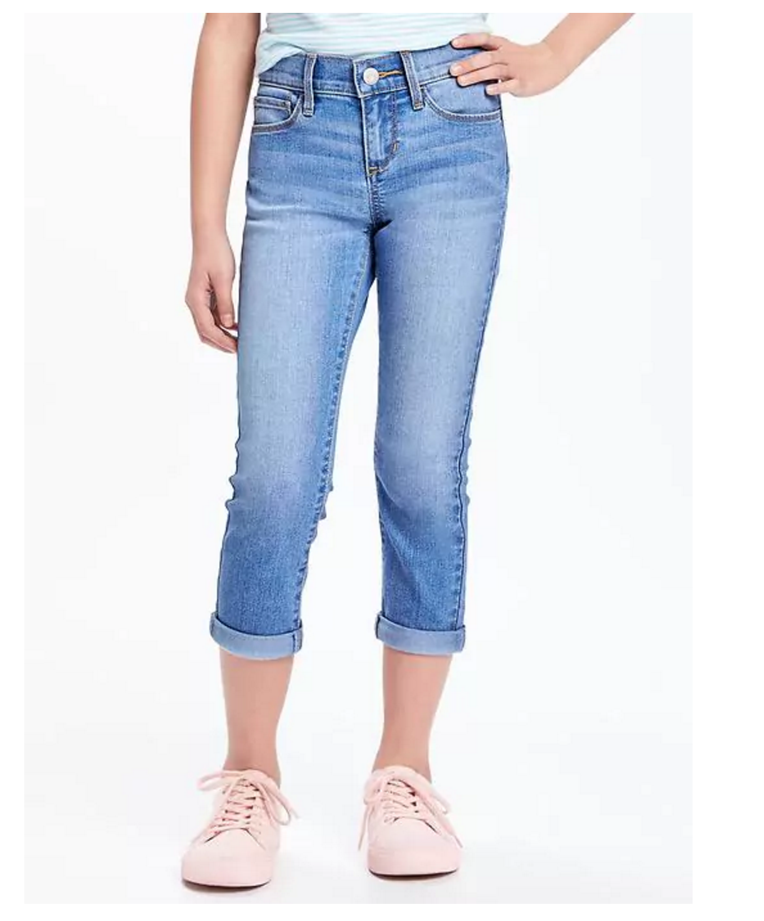 Tanger Outlets Old Navy Outlet girl's denim capri pants