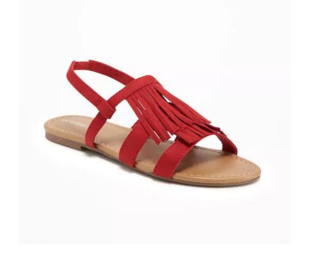 Tanger Outlets Old Navy Outlet girl's suede fringe sandals