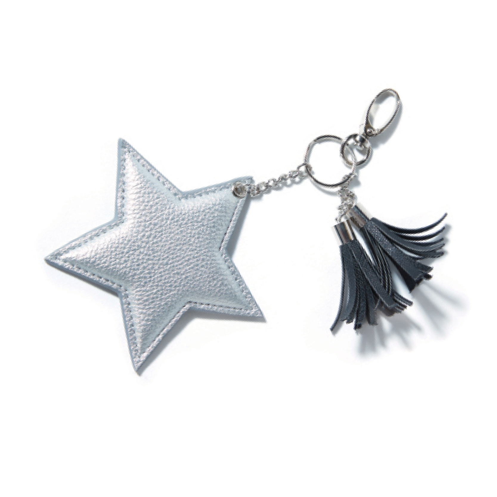 Tanger Outlets LOFT Outlet star and tassel keychain