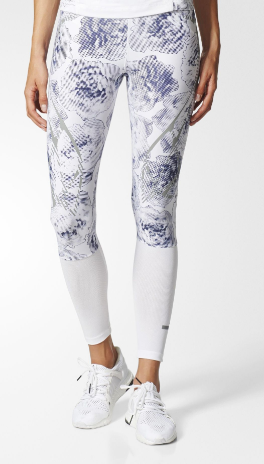 tanger outlets adidas active wear floral webbed leggings