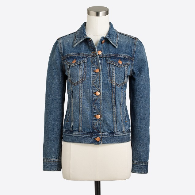 tanger outlets j crew dark wash denim jacket
