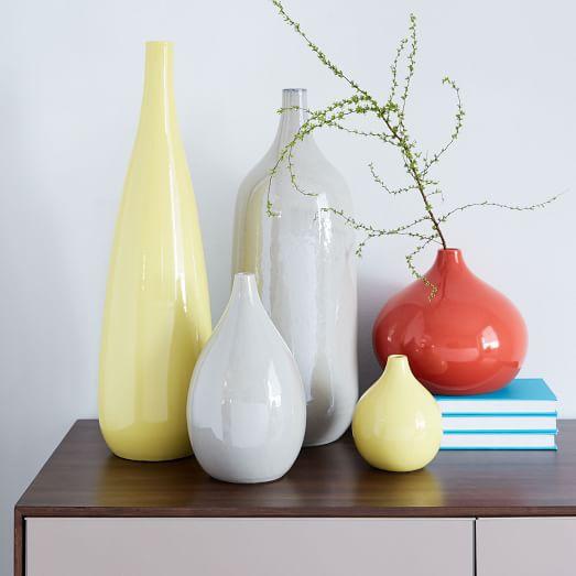 Tanger Outlets West Elm outlet bright ceramic vases
