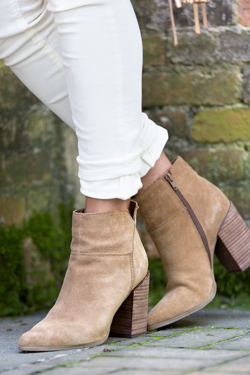 tanger outlets nine west brown suede booties