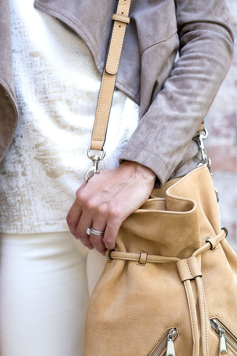 tanger outlets saks off fifth tan crossbody tassel purse