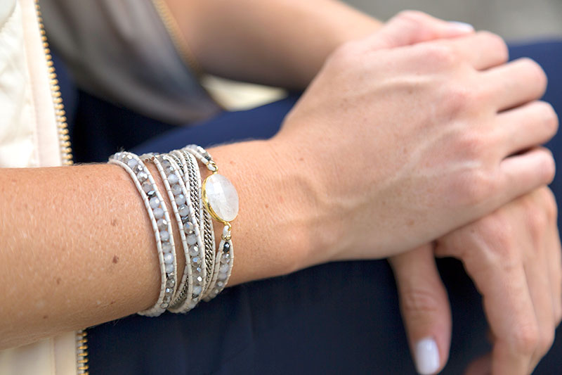 tanger outlets neiman marcus stone and bead wrap bracelet