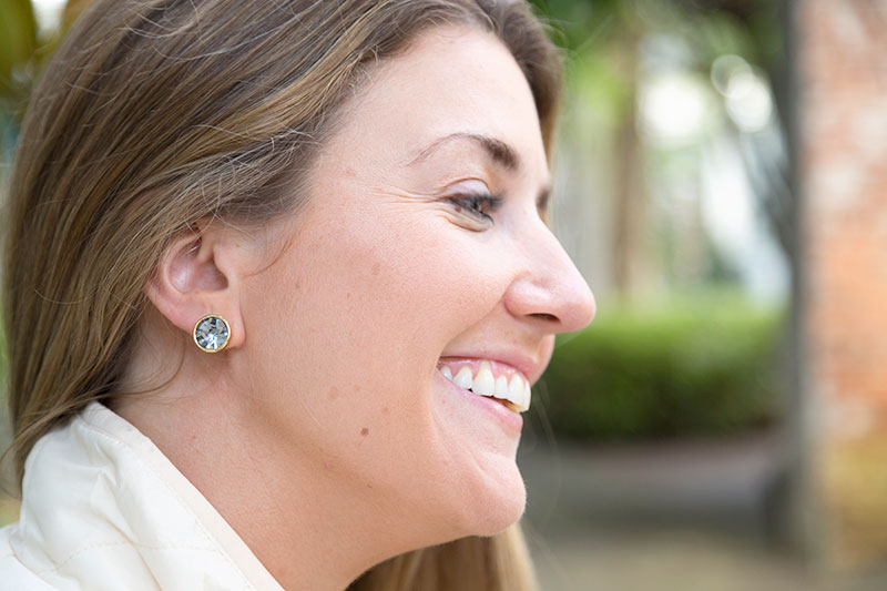 tanger outlets saks off fifth navy stone stud earrings