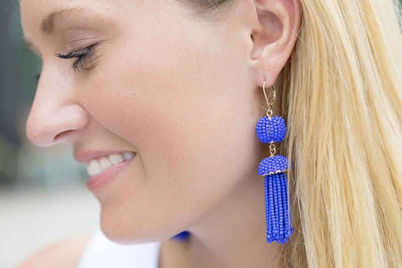 tanger outlets j crew beaded tassel earrings