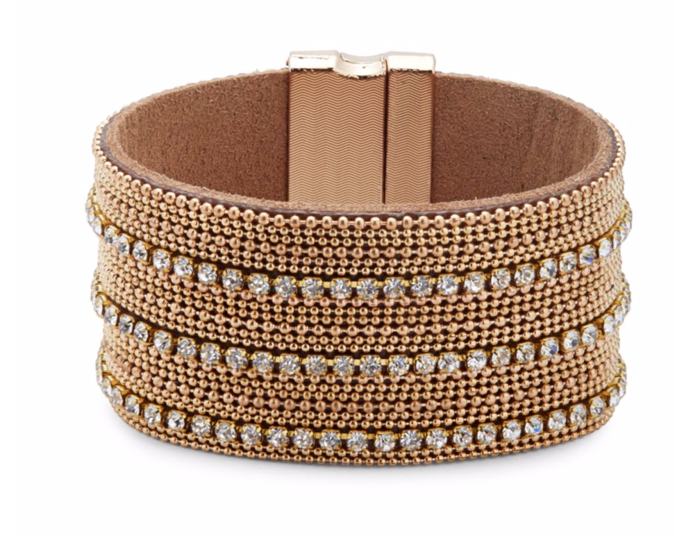 tanger outlets saks off fifth beaded rhinestone cuff bracelet