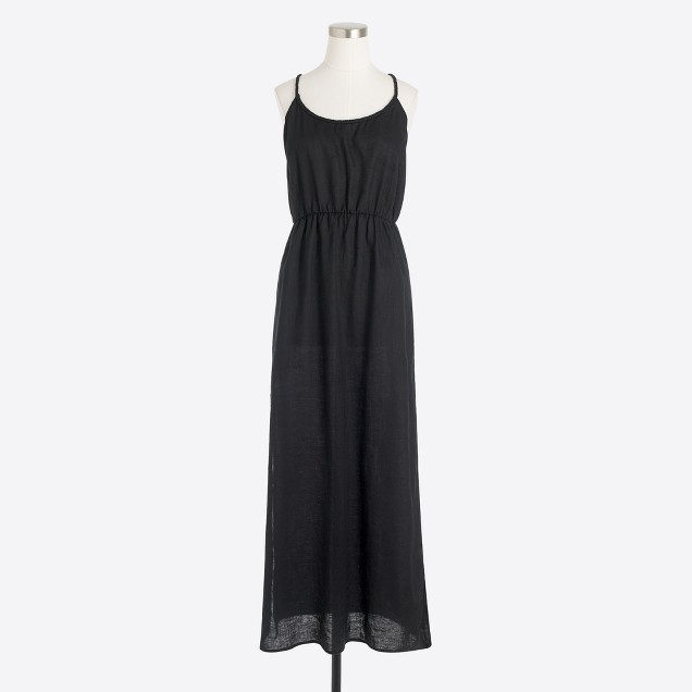 tanger outlets j crew simple maxi dress