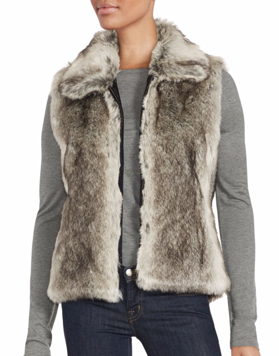 tanger outlets saks off fifth faux fur vest