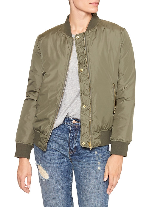 tanger outlets gap bomber jacket