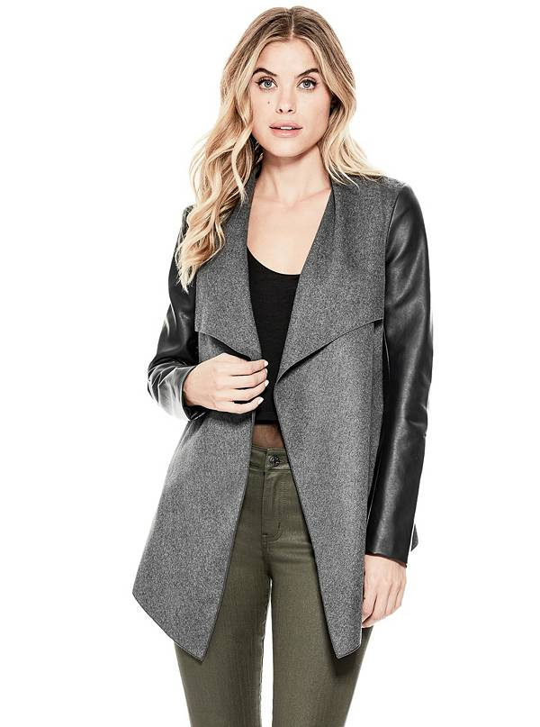 tanger outlets gap draped two-fabric jacket
