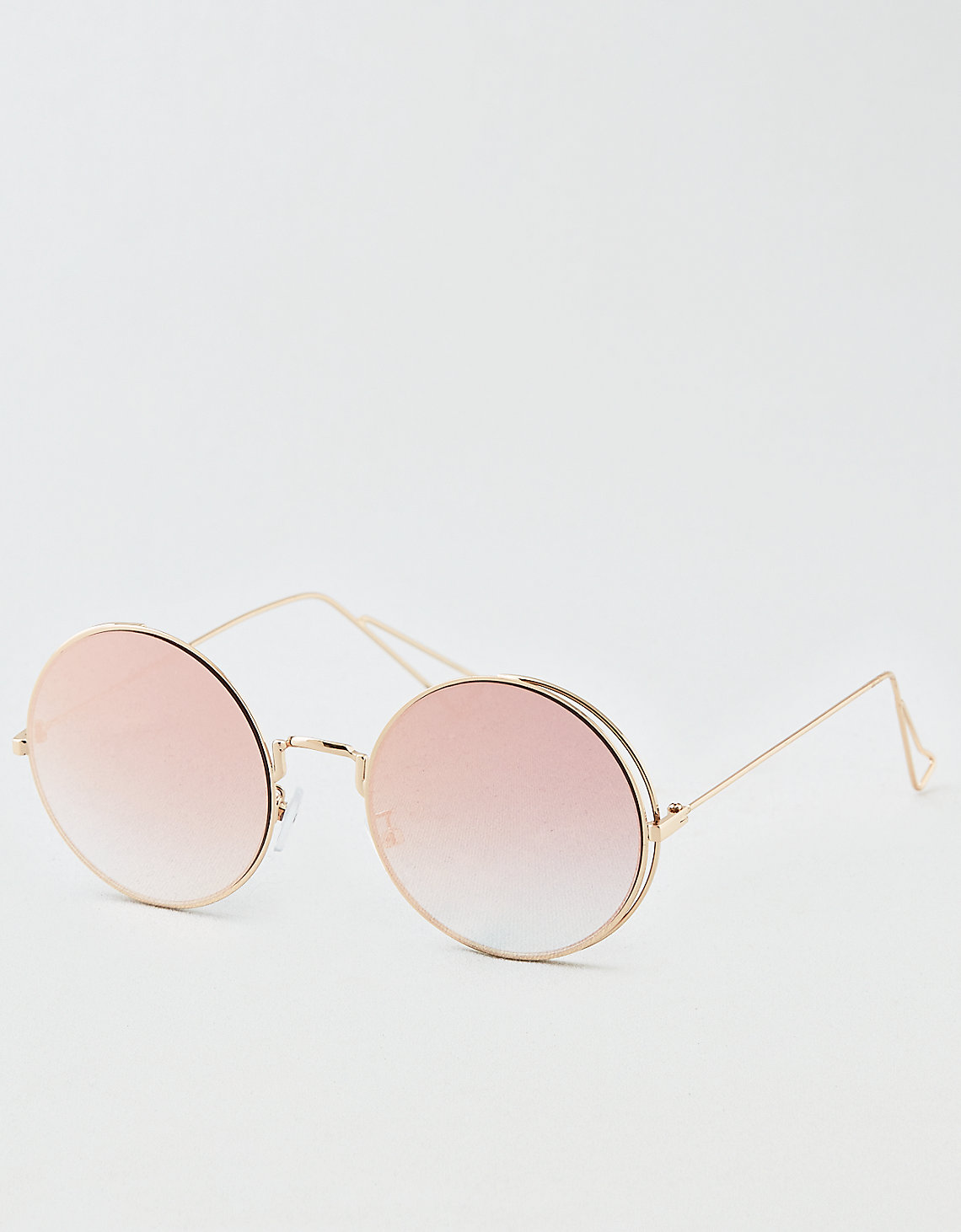 tanger outlets american eagle round rose tinted sunglasses