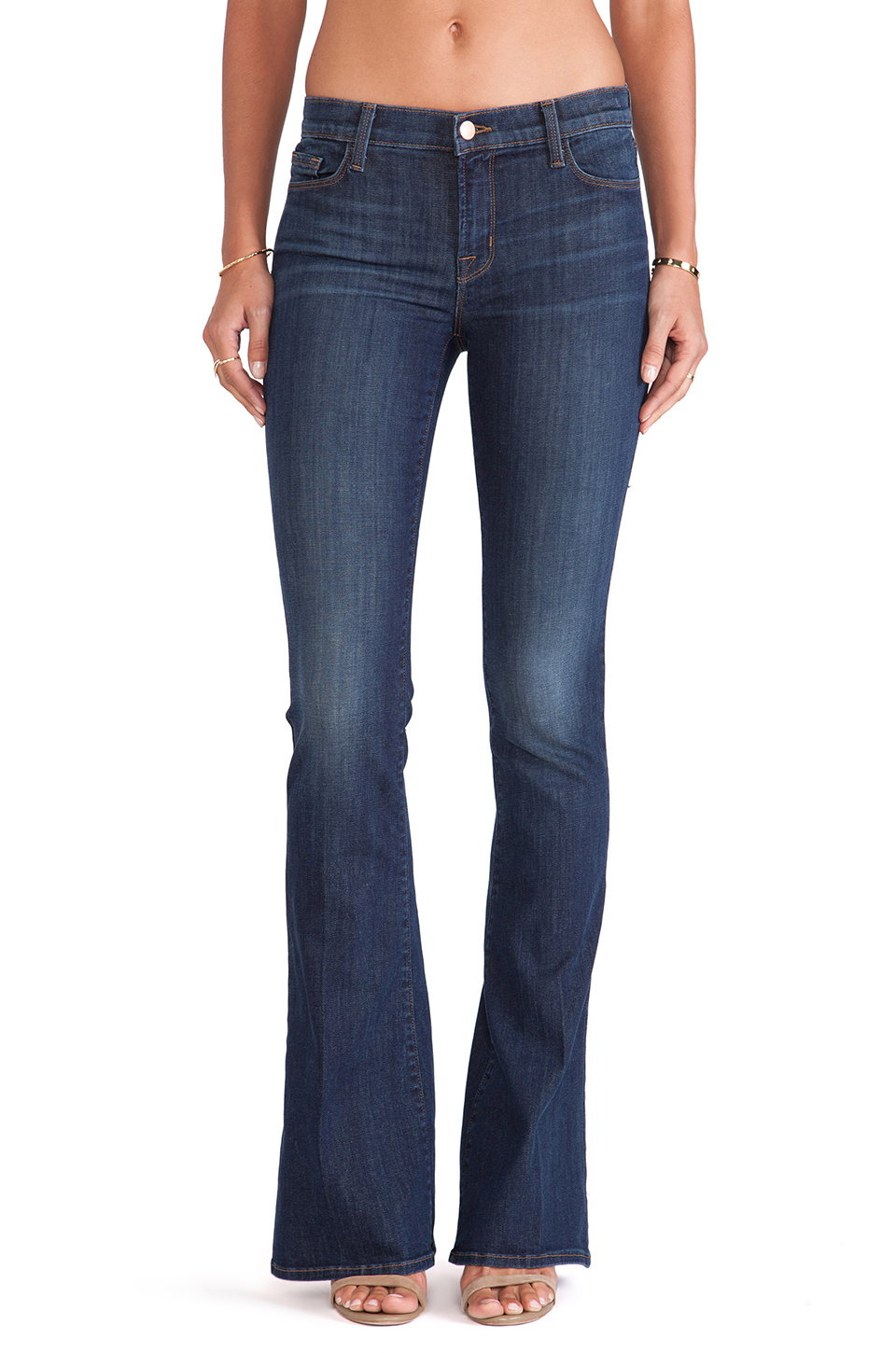 tanger outlets saks off fifth dark wash flare jeans